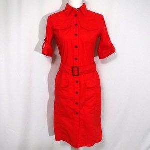 NWT Ralph Lauren Coral Shirt Dress Size 2